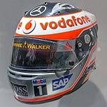 Fernando Alonso 2007 helmet front 2017 Museo Fernando Alonso.jpg