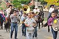 Fiestas Patrias Parade, South Park, Seattle, 2015 - 243 - horses and band (21596799775).jpg
