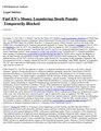 FinCEN's Money Laundering Death Penalty Temporarily Blocked (IA FinCEN's Money Laundering Death PenaltyTemporarily Blocked-crs).pdf