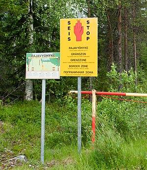 Finland–Russia border - Image: Finnish Russian border, Paljakka 2