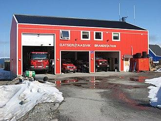 Fire station - Image: Fire station upernavik 2007 06 01