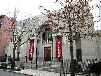 Berkeley Carroll School - The former First Church of Christ Scientist at 156 Sterling Place is home to Berkeley Carroll's 400-seat Marlene Clary Performance Space, which was finished in 2016, classrooms and offices.