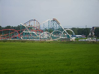 Flamingo Land Theme park, zoo, and resort in North Yorkshire, England