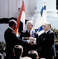 Flickr - Government Press Office (GPO) - THE TRIPLE HANDSHAKE IN THE PEACE TREATY SIGNING BETWEEN ISRAEL AND EGYPT.jpg