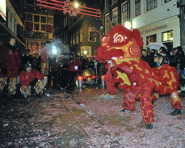 Nouvel an chinois à Amsterdam - photo de Jos van Zetten