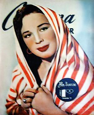 Flor Silvestre - Flor Silvestre on the cover of Cinema Reporter, February 1950