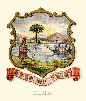 Seal of Florida - Historical coat of arms (1876)