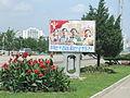 Flowers and propaganda.JPG