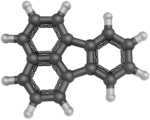 Ball-and-stick model of fluoranthene