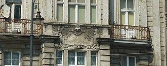 Max Zweininger Building - Image: Focha 2 balcony