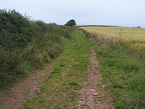 English: Footpath to Inner Hope Footpath by th...