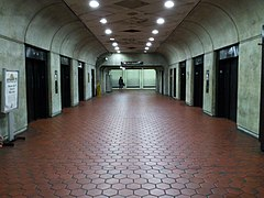 Forest Glen station elevator hall, train level.jpg