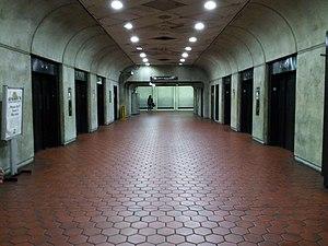 Forest Glen station - Elevator hall, train level