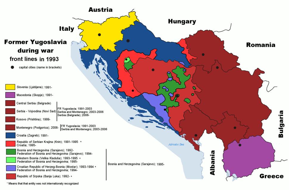 Former Yugoslavia wartime