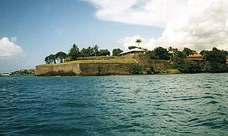 Fort-de-France - Fort Saint Louis seen from the sea