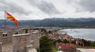 Lake Ohrid - View of Ohrid and Ohrid Lake from Samuil's Fortress
