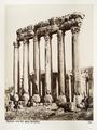 Fotografi på romerska tempelruiner i Balbek - Hallwylska museet - 104282.tif