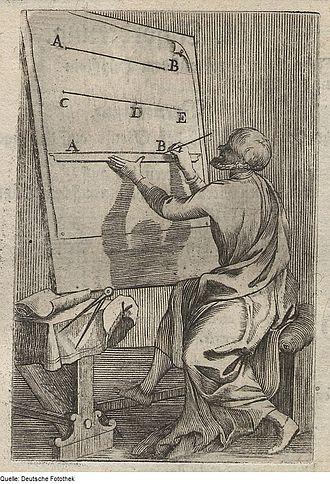 Line segment - historical image – create a line segment (1699)