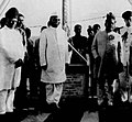 Foundation stone for Milind College was laid by the President Dr. Rajendra Prasad on 1 September 1950. Representative of the Nizam of Hydrabad and other activists are in picture.jpg