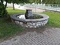 Fountain at Erzsébet Bridge, Esztergom, Hungary.jpg