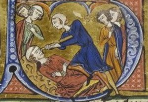 Alexios Komnenos (protosebastos) - The blinding of Alexios Komnenos, illuminated miniature from a manuscript of the history of William of Tyre, now in the Bibliothèque nationale de France