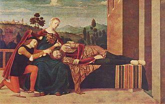 Francesco Morone - Samson and Delilah. Milan, Museo Poldi Pezzoli.