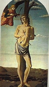 Francesco di Giovanni Botticini - Saint Sebastian.jpg