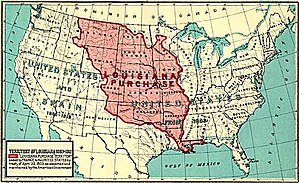 French Louisiana - This map shows the Louisiana Purchase area, which corresponds with much of colonial French Louisiana, but the colony extended further into the Illinois Country.