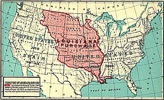 Texas annexation - Louisiana Purchase boundaries of 1803