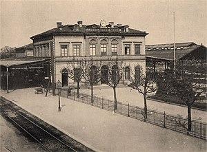 Frankfurt Höchst station - The second Höchst station in 1880