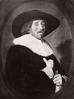 Frans Hals - portrait of a man with a wide brimmed hat facing right.jpg
