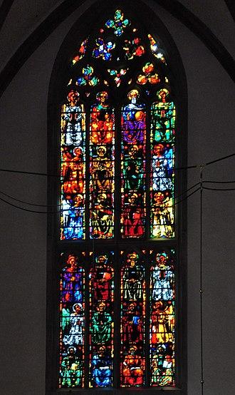 Augusto Giacometti - Image: Fraumünster Innenansicht Giacometti Fenster 2010 08 27 17 02 52 Shift N