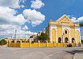 Frente de la Parroquia de San Francisco de Asís; Hunucmá, Yucatán.jpg