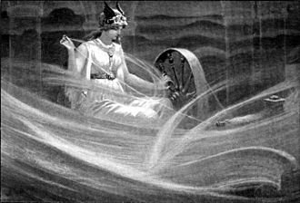 Friday - Frigg spinning the clouds, by John Charles Dollman