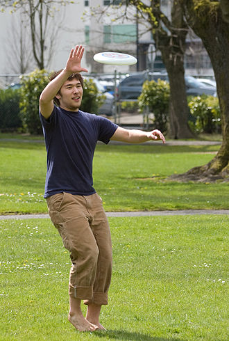 Frisbee - Person catching a flying disc
