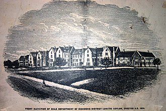 St. Brendan's Hospital, Dublin - Image: Front Elevation of Male Department of Richmond District Lunatic Asylum 1854