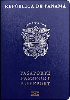 Front cover of the Panamanian biometric passport.jpg
