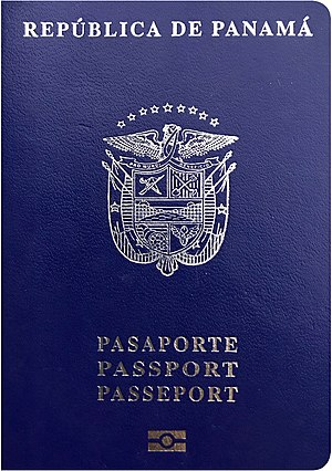 Biometric passport - Cover of a Panamanian Biometric Passport