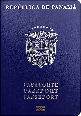 Panamanian passport - The front cover of the new Panamanian biometric passport.