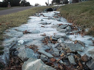 Ice - A small frozen rivulet