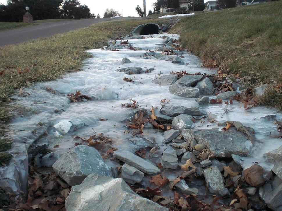 Frozen rivulet in Pennsylvania