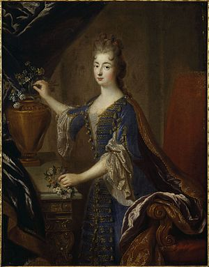 Marie Anne de Bourbon - Image: Full portrait of Marie Anne de Bourbon (1666 1739) by François de Troy