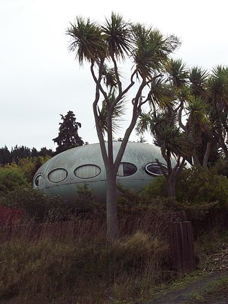 Warrington, New Zealand - A Futuro house in Warrington