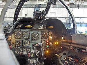 Fiat G.91 - The cockpit of a G-91 R1 in the Istituto Tecnico Industriale Aeronautico, Udine, Friuli-Venezia Giulia, Italy