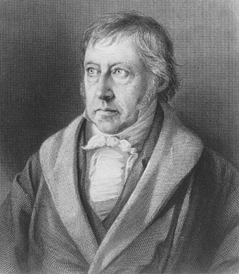 Georg Wilhelm Friedrich Hegel, steel engraving, after 1828 G.W.F. Hegel (by Sichling, after Sebbers).jpg