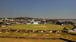 Galle International Stadium - View of the stadium from the old Dutch Fort, 2013