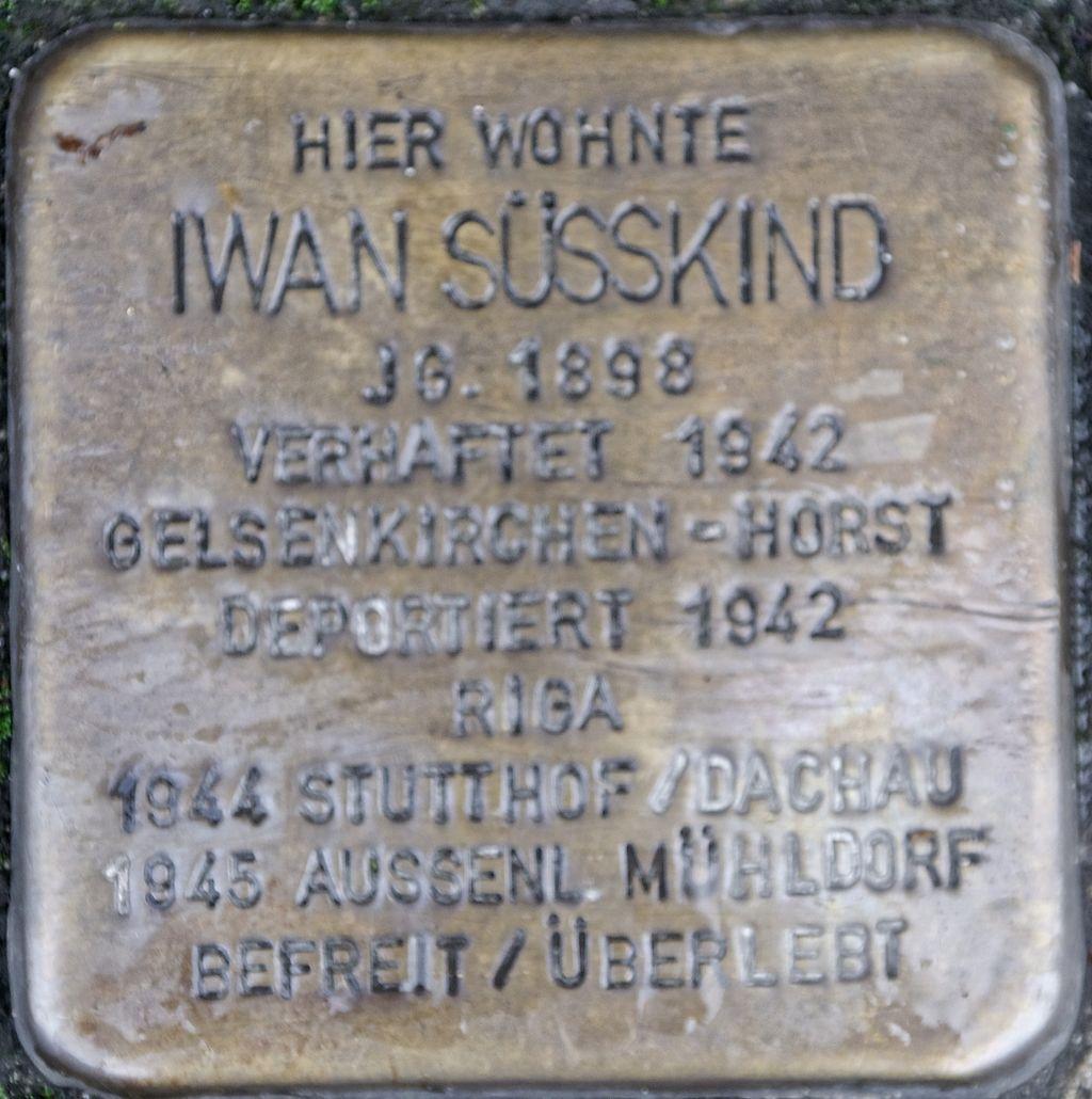 GE Stolperstein - Iwan Süsskind, Markenstraße 29.jpg