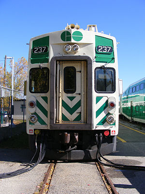 GO train cars at Georgetown railway station (p...