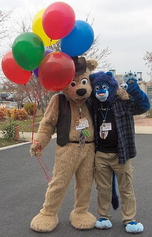 GR MFF2006 Fursuiters BJ Buttons and Cobalt balloons.jpg
