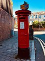 GR red letter box on corner of Clifton Road and Stow Hill, Newport, August 2018 (2).jpg